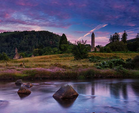Sunset at Glendalough